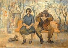 Franco Resecco - Donna e uomo su panchina