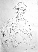 Franco Resecco - Uomo con pane